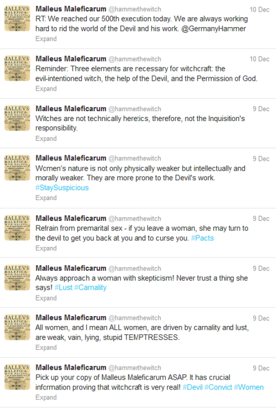 Is this a medieval-themed parody account? Online experience says no